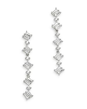 Bloomingdale's Diamond Round & Baguette Drop Earrings In 14k White Gold, 0.50 Ct. T.w. - 100% Exclusive