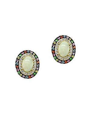 Bloomingdale's Multi-gemstone & Diamond Stud Earrings In 14k Yellow Gold - 100% Exclusive