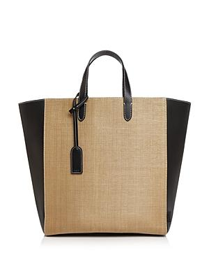 Vasic Day Straw & Leather Tote