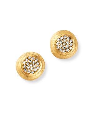 Marco Bicego 18k Yellow Gold Jaipur Diamond Stud Earrings