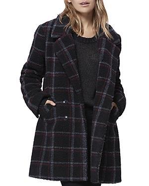 Paige Sabinah Plaid Faux-shearling Coat