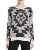 Elan Aztec Motif Sweater