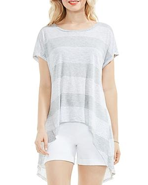 Vince Camuto Striped Split-back High/low Top