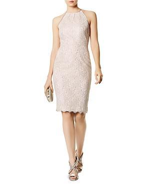 Karen Millen Metallic Lace Sheath Dress