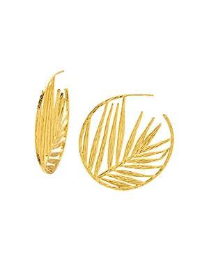 Gorjana Palm Profile Hoop Earrings