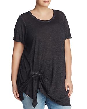 Andrew Marc Performance Plus Side Twist Tee
