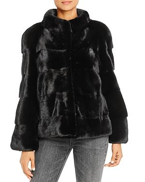 Maximilian Furs Mink Fur Short Coat