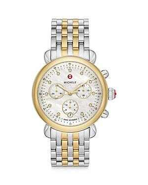 Michele Csx 39 Two-tone 18k Yellow Gold Diamond Chronograph, 39mm (41% Off) - Comparable Value $1,695