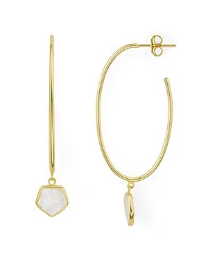 Argento Vivo Antigua Charm Hoop Earrings In 18k Gold-plated Sterling Silver