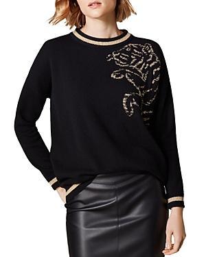 Karen Millen Leaping Tiger Intarsia Sweater
