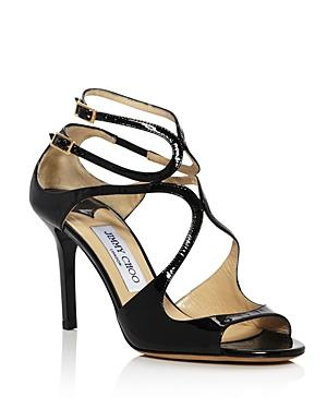 Jimmy Choo Women's Ivette Patent Leather High Heel Sandals
