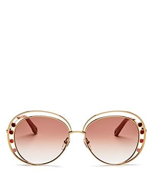Chloe Women's Delilah Double Rimmed Aviator Sunglasses, 57mm