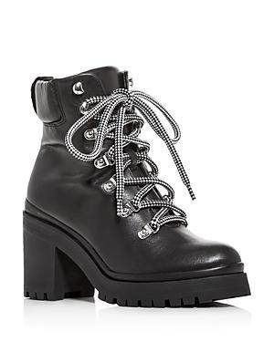 Rebecca Minkoff Women's Maiho Lace-up Block-heel Booties