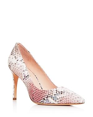 Kate Spade New York Women's Valerie Snake-embossed Pointed-toe Pumps