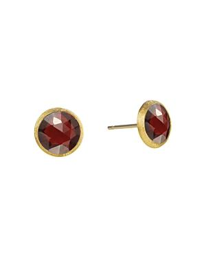 Marco Bicego 18k Yellow Gold Jaipur Garnet Stud Earrings