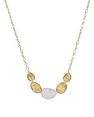 Marco Bicego 18k White And Yellow Gold Lunaria Diamond Half Collar Necklace, 16.5