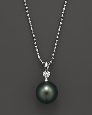 Tara Pearls Dancing Diamond Cultured Tahitian Pearl Pendant Necklace, 16