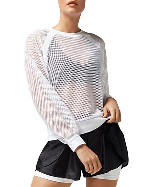 Blanc Noir Irie Sheer Cropped Sweatshirt