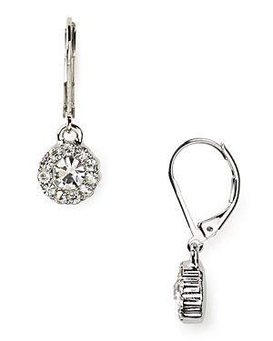 Lauren Ralph Lauren Social Manor Small Round Pave Drop Earrings