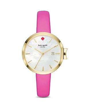 Kate Spade New York Leather Park Row Watch, 34mm