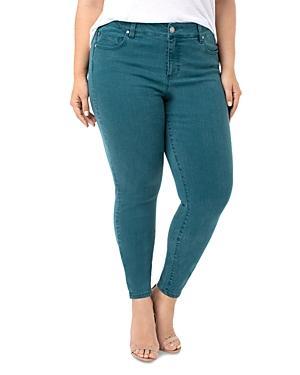 Liverpool Plus Abby Skinny Jeans In Atlantic Deep Green