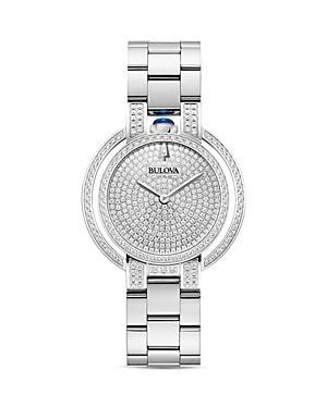 Bulova Rubaiyat Pave Diamond Dial Watch, 35mm