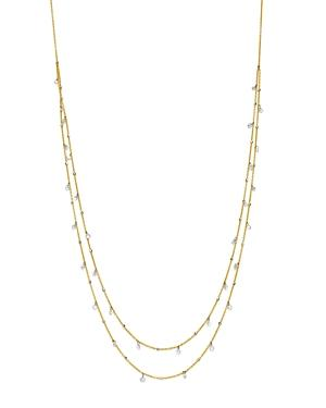 Aerodiamonds 18k Yellow Gold Amanda Double Layer Diamond Necklace, 18