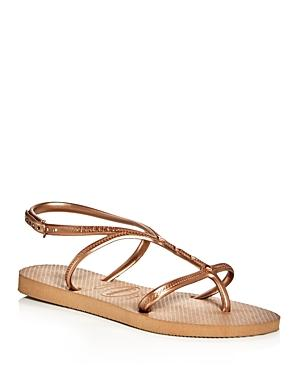 Havaianas Women's Allure Maxi Metallic Slingback Sandals