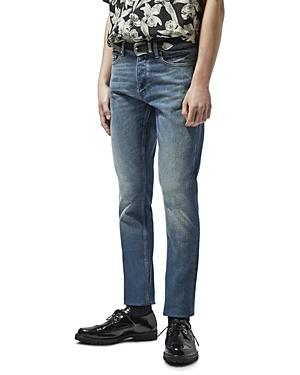 The Kooples Straight Fit Jeans In Blue Denim