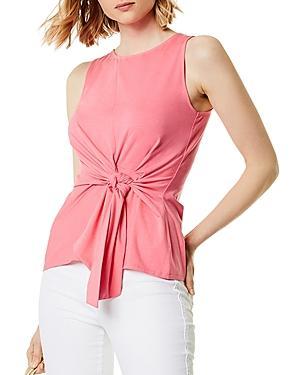 Karen Millen Tie-front Jersey Top