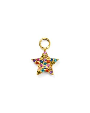 Aqua Rainbow Star Charm In Sterling Silver Or Yellow Gold-plated Sterling Silver - 100% Exclusive
