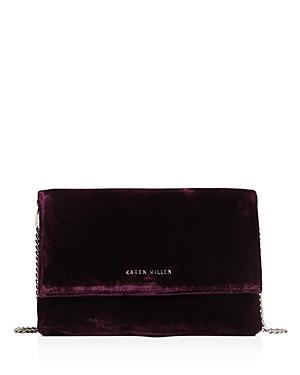 Karen Millen Medium Velvet Clutch
