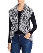 Sioni Draped Leopard Print Sweater Vest