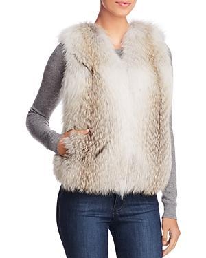 Maximilian Furs Fox & Mink Fur Vest