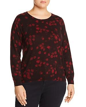 Michael Michael Kors Plus Eden Rose Print Sweater
