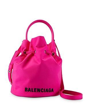Balenciaga Xs Wheel Drawstring Fluo Bucket Bag