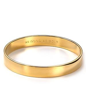 Kate Spade New York Idiom As Good As Gold Bangle