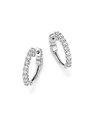 Diamond Hoop Earrings In 14k White Gold, .75 Ct. T.w. - 100% Exclusive