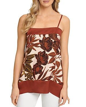 Dkny Floral Print Asymmetrical Hem Camisole Top