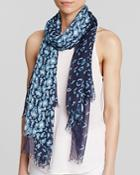 Aqua Animal Print Scarf - 100% Exclusive