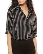 Lauren Ralph Lauren Striped Crepe Shirt