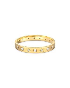 Zoe Lev 14k Yellow Gold Diamond Starburst Ring