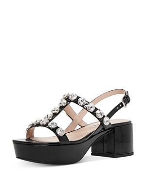Miu Miu Women's Crystal Embellished Platform Sandals
