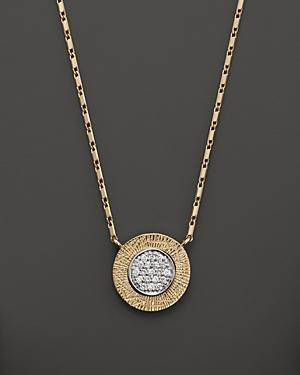 Diamond Pave Pendant Necklace In 14k Yellow & White Gold, .10 Ct. T.w.