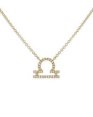 Adinas Jewels Pave Libra Pendant Necklace, 16-18