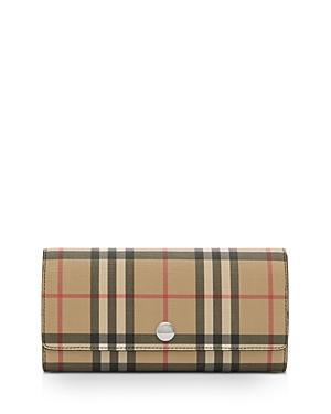 Burberry Vintage Check E-canvas Continental Wallet