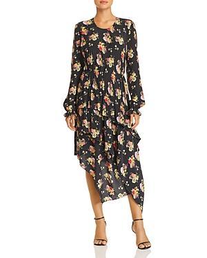 Preen Line Mixed-media Floral Dress
