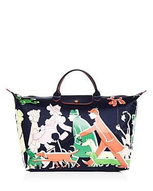 Longchamp X Clo'e Floirat Nylon Weekender Bag