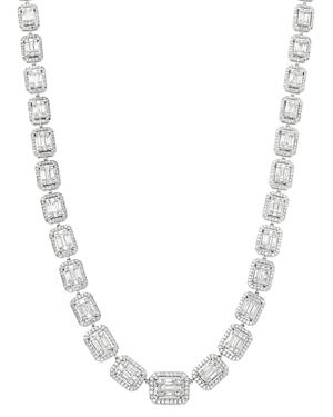 Bloomingdale's Diamond Mosaic Statement Necklace In 14k White Gold, 10.0 Ct. T.w. - 100% Exclusive