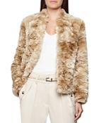 Reiss Millie Faux Fur Teddy Coat